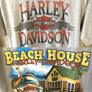 Harley Davidson Shallotte NC Tee Shirt Size L Tall